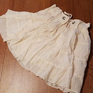 Maurices fully-lined ivory cotton skirt